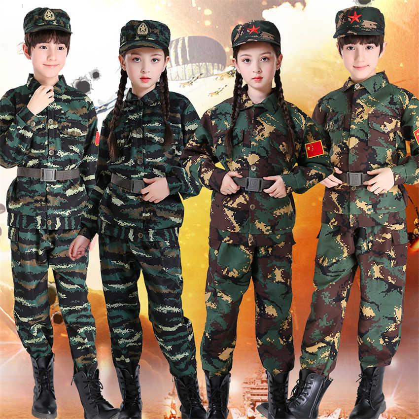 Swat menino menina do exército terno 2019 notícias polícia militar uniforme anime cosplay terno do exército traje de halloween para crianças disfarce roupas