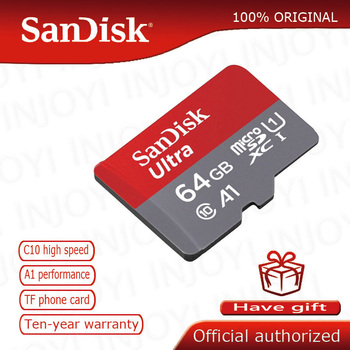Oryginalny SanDisk nowa wersja 64GB A1 Ultra karty micro SD karty pamięci karty TF 80 MB s microsd UHS-I karty cartao de pamięci tanie i dobre opinie Class 10 SDSQUNC-064G-GN6IA Tf micro sd card Up to 80MB s read speed 0 59in x 043in x 04in (14 99mm x 10 92mm x 1 02mm)