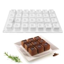 28 отверстий квадратная форма для шоколада силиконовые формы для торта для выпечки муссов сковородки для украшения торта инструменты для мороженого жаропрочная посуда для десерта инструменты