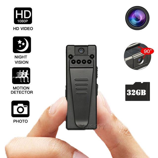 1080P Mini Camera HD Video Voice Recorder Clip DV IR Night Vision Motion Sensor Micro Cam Secret Webcam Camara espia oculta