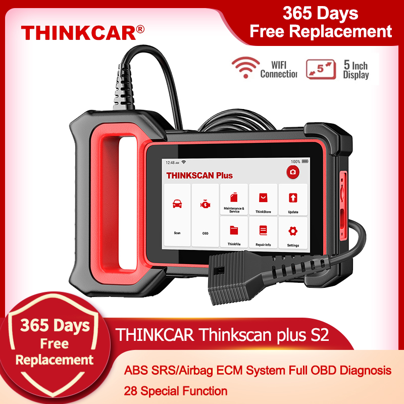 THINKCAR Автомобильные диагностические инструменты Thinkscan Plus S2 OBD2 Автомобильные диагностические инструменты ABS SRS ECM 28 Функция сброса автомобиль...