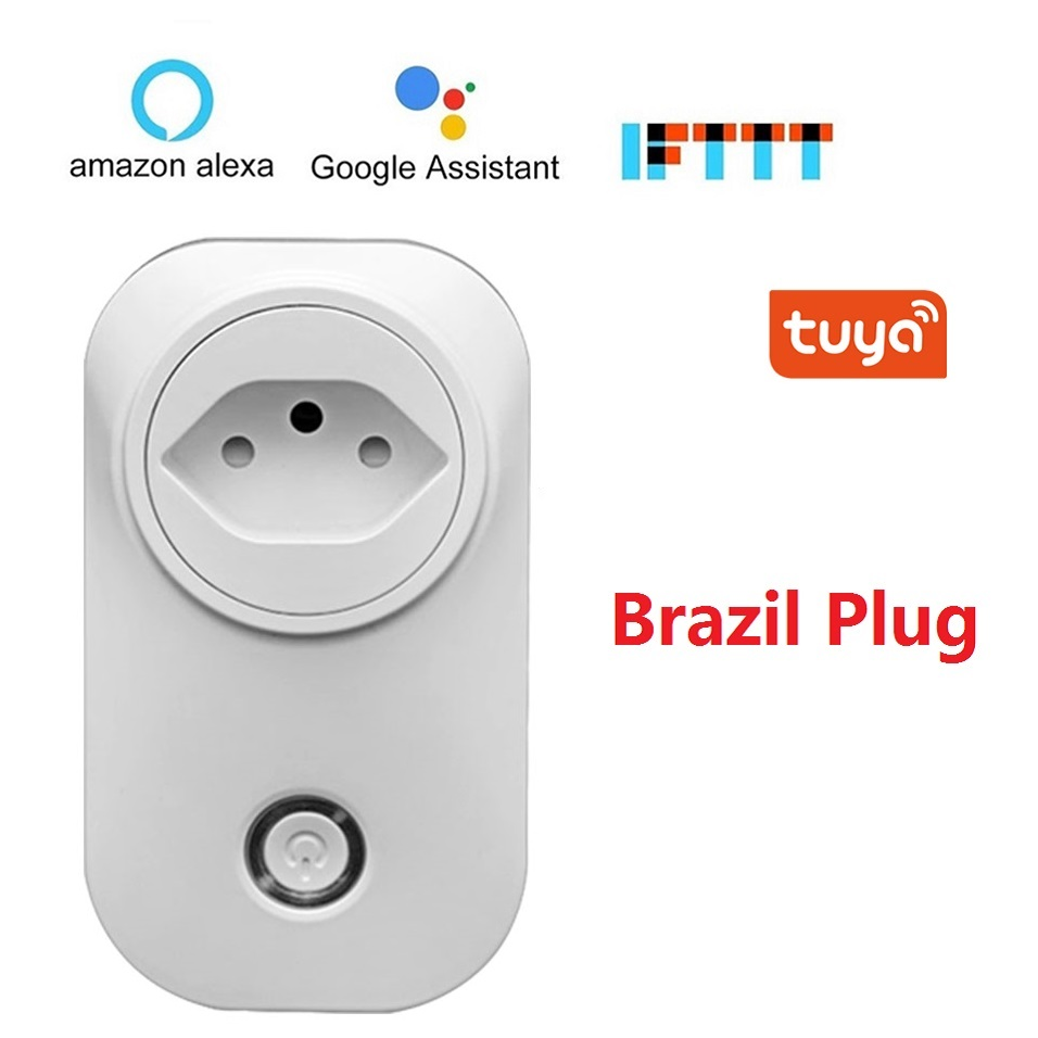 Brazil WIFI Smart Socket BR Plug Wireless Outlet Voice Control Smart Timing Switch Power Monitor For Alexa Google Home IFTTT(China)