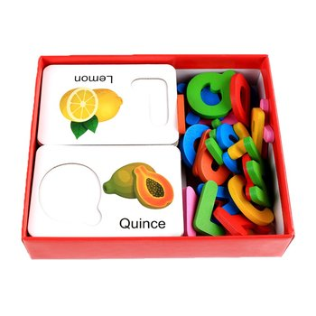Children's Educational Toys Wooden Fruit Vegetable Card English Alphabet Recognition Card Toy Early Education Toys цена 2017