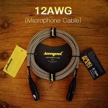 Samgool male to female microphone microphone line XLR balanced audio signal line recording plug цены онлайн