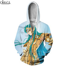 Cloocl anime the knights of zodiac saint seiya 3d print hoodies