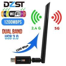 Adaptateur USB Wi-fi double bande 1200/5 ghz, 2.4 mb/s, pilote Dongle, carte réseau sans fil Lan Ethernet 802.11n/G/a/ac
