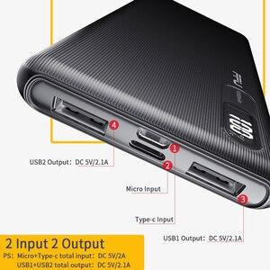 Image 3 - FPU batterie dalimentation 10000 mAh chargeur Portable PowerBank 10000 mAh mince USB batterie de téléphone externe de charge pour Xiaomi mi 9