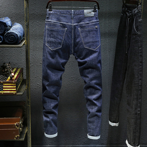 Image 4 - 2020 סתיו Winterr שחור וכחול ג ינס גברים ג ינס מכנסיים זכר באיכות גבוהה slim fit ז אן מותג בתוספת גודל 40 42 44 46