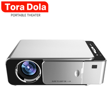 TORA DOLA 1280×720P LED Projector T6,Portable 3D Video Cinema Projecto