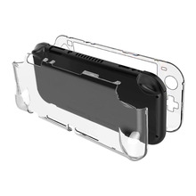 PC กรณีป้องกัน Cover Shell สำหรับ Nintend Switch Lite NS คอนโซลมินิคริสตัลโปร่งใสเต็ม Body Protector