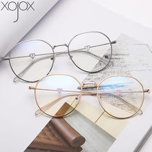 XojoX amor diseño de pierna miopía gafas para mujer luz Irregular redondo marco miopía gafas de prescripción-0 -1-1,5-4
