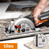 Worx 500W Electric Saw WX439 Circular Saw 120mm Compact Household Power Tools Cutting-machine Multi-function Mini Saw handheld 5