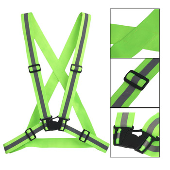High Elastic Traffic Night Work Security Running Cycling Safety Reflective Vest High Visibility Reflective Safety Vest Strip reflective sling night night work security running cycling safety reflective vest high visibility reflective safety jacket