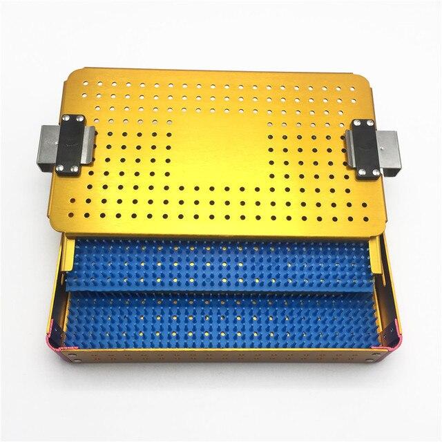Nova cirurgia autoclavável cirúrgica ferramentas caixa de desinfecção de silicone instrumentos microcirúrgicos oftálmicos