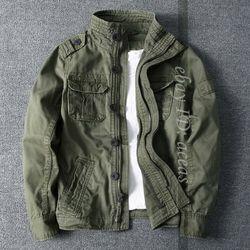 Мужская модная камуфляжная армейская куртка с воротником-стойкой, военные карманы, короткое пальто для улицы