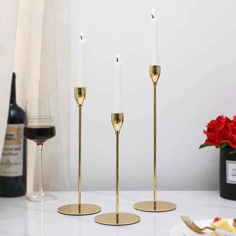 Bougeoirs En Metal Plaque Conique Table Romantique Creative En Fer