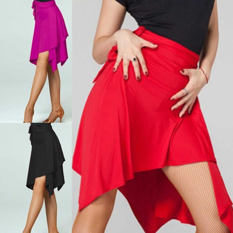 Dance Rock Für Frauen Schwarz Lila Rot Farbe Professionelle Sumba Tanzen Rock Erwachsene Günstige Bühne Rumba Kleid
