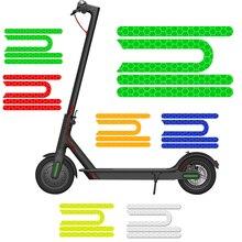 4 шт./компл. для Xiaomi Mijia M365 Pro Электрический скутер светоотражающий стикер отражатель 7,5 см * 0,6 см аксессуары для скутеров