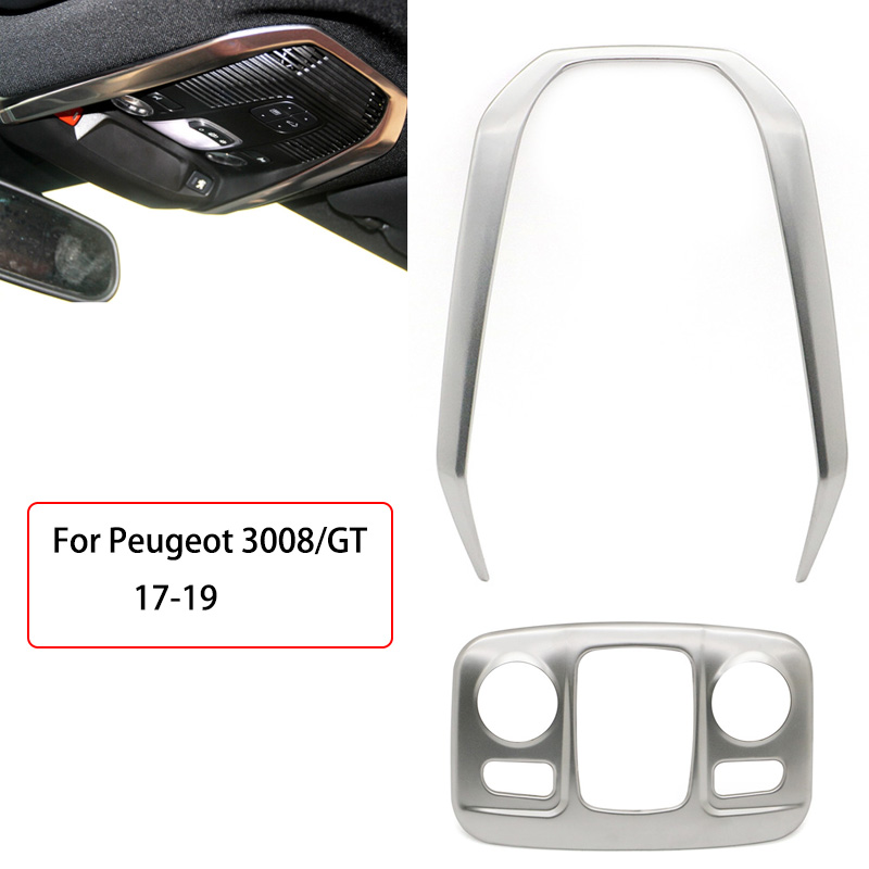 Front / Rear Reading Light frame Trim cover Interior Mouldings Styling Car Accessorie For Peugeot 3008/GT 5008 GT 2017 2018 2019