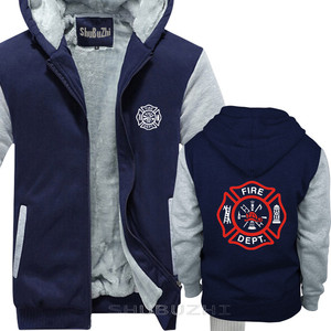 Image 4 - VIGILE DEL FUOCO VIGILI del FUOCO di SALVATAGGIO EMT del pullover degli uomini di caldo coathick giacca di modo di marca top con cappuccio sbz5694