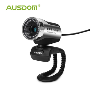 Ausdom AW615 1080P Webcam Built-in Microphone with USB 2.0 for Laptop Live Broadcast Video Conference Work Computer Camera(China)