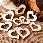 50pcs Wooden Heart H...