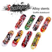 DIY Assembly Mini Finger Skateboard Deck Skate Park Board Boy Kid Children A2UB