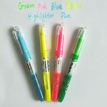 Colorfull School Highlighter Pen Students Highlighters Marker Brush Pens Pastel Markers Watercolor Fluorescent Pen For Drawing