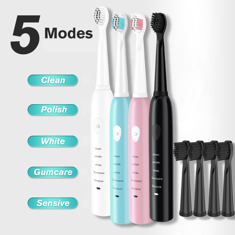 Camfutr Ultrasonic Sonic Electric Toothbrush USB Charge Rechargeable Tooth Brushes Washable Electronic Whitening Teeth Brush