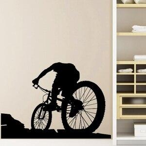 Горный велосипед магазин стикер на стену индивидуальные спортивные плакаты виниловые наклейки на стены Декор Фреска окна автомобиля велос...