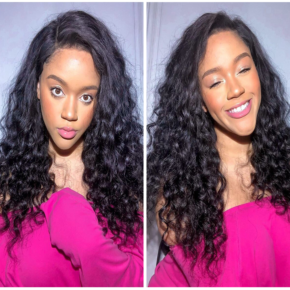 13x4 Lace Front Human Hair Wigs Free Part Kinky Curly Wig Brazilian 13*4 Curly Lace Frontal Wig Remy Hair