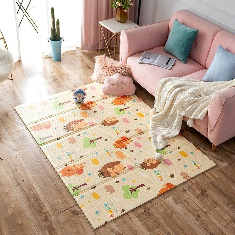 Tapis de route pour enfants enfants grand tapis rampant épaissi bébé tapis en mousse Puzzle tapis imperméable pliable tapis jeu couverture