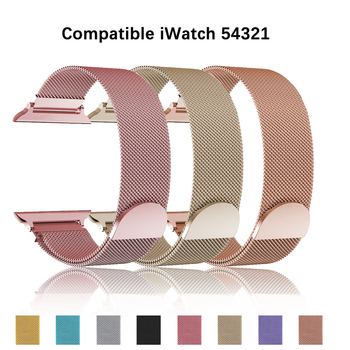Milanese Loop Watchband for Apple Watch 44mm 42mm Stainless Steel Band 38mm Bracelet 40mm Strap for iwatch Series SE 2 3 4 5 6 for suunto core series watch milanese strap high quality stainless steel watchband 24mm adapter