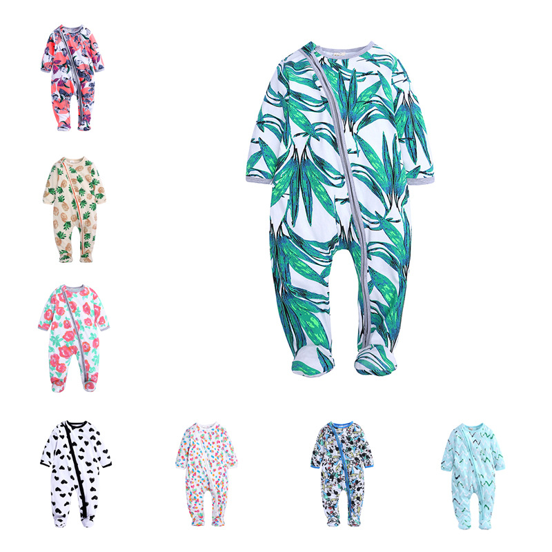 INS Childrenswear Clothes For Babies Baby Rompers Crawling Clothes A Bale Of Cotton Handbag Feet Onesie