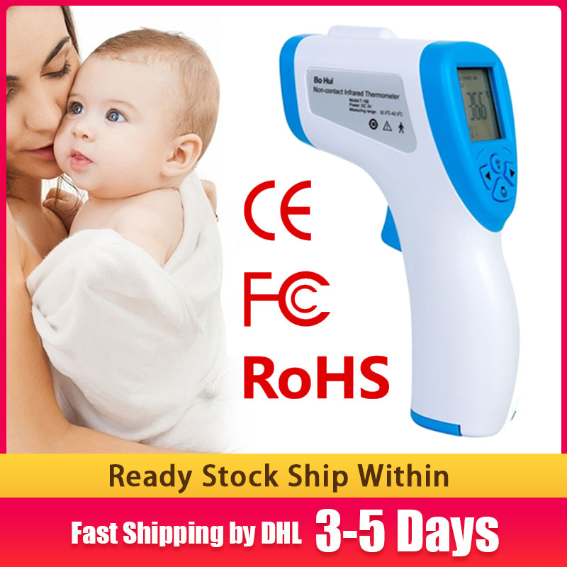 BOHUI T-168 IR Infrared Thermometer Forehead Surface Digital Non-contact Electronic Thermometer 32-42.9 Degrees Celsius Free DHL