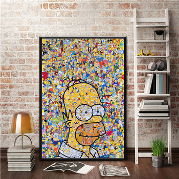 The Simpson Poster and Canvas Painting Wall Art Picture for Living Room Home Decor 1