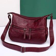 Sacs à bandoulière en cuir souple pour femmes, sacs à bandoulière de styliste pour dames