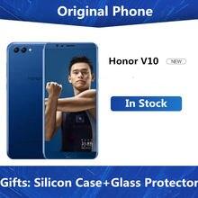 Honor v 10 4 グラム 64 グラムビュー 10 オリジナル携帯電話オクタコア 5.99 インチview10 デュアルリアカメラ指紋id nfc honor v 10