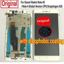 100% Sensore originale Display LCD Touch Screen Digitizer Assembly con Frame Per Xiaomi Redmi Nota 4X/Nota 4 Globale versione