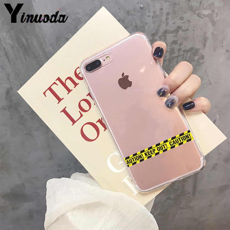 Yinuoda màu vàng trong suốt Logo Mềm TPU Ốp Điện Thoại cho Iphone X XS MAX 6 6 S 7 7 Plus 8 8Plus 5 5S SE XR 11 Pro Max