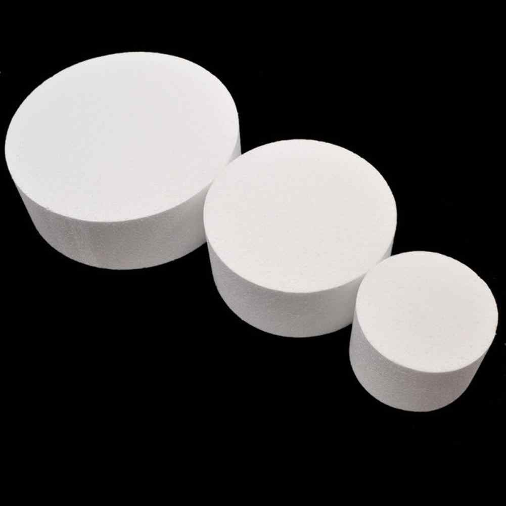4/6/8inch Round Styrofoam Foam Cake Dummy Sugar craft Flower Decor Practice Model  DIY Christmas Wedding Celebration Decorations