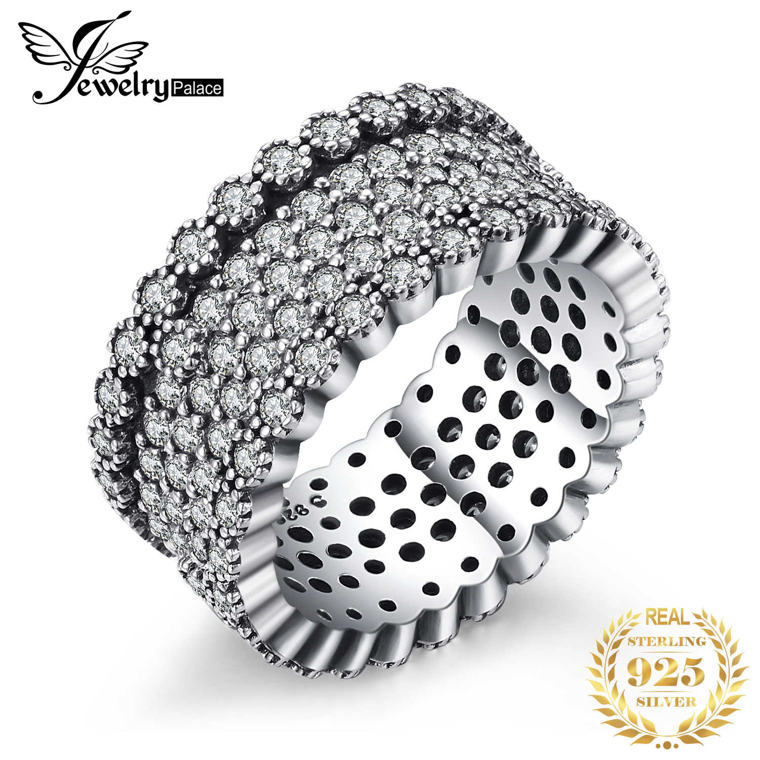 Jewelrypalace 925 Sterling Silver lavish Shimmering Cocktail Ring For Women New Hot Sale As The Best Gifts