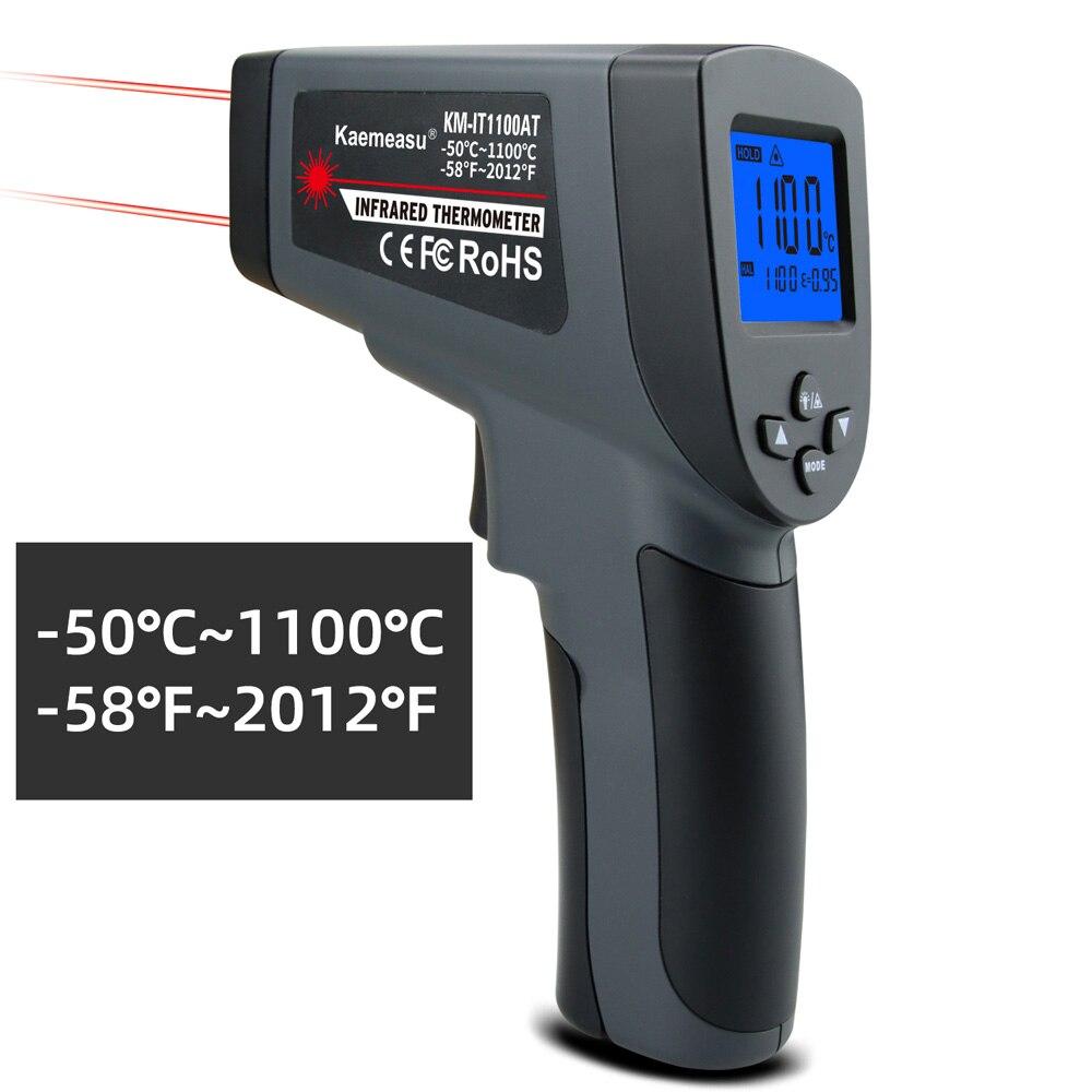 Kaemeasu Digitale Infrarood Thermometer -50 ~ 1600 Meetbereik, Non-contact, Veiligheid, Koken, industriële Elektronische Thermometer Pistool 7