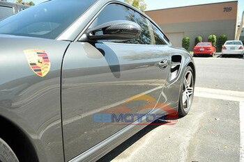 Reak Carbon Fibre Tape-On Mirror Covers 1pair For 2005-2012 Porsche 911 997 987 Carrera 2005-2012 T051M 1