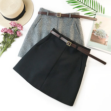 2020 Spring Summer New Arrival Vintage Quality Temperament High Waist A-line Office Skirts