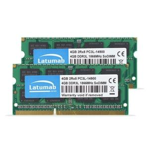 Image 2 - Latumab RAM DDR3L 4GB 8GB 1866MHz 1600MHz 1333MHz 1066MHz 노트북 메모리 SODIMM 1.35V 노트북 메모리 Memoria DDR3 RAM 모듈
