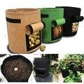 4 7 10 ガロン植物を成長 seedsplants 生地ポテト植栽袋保湿果物苗ガーデンツールジャルダン園芸