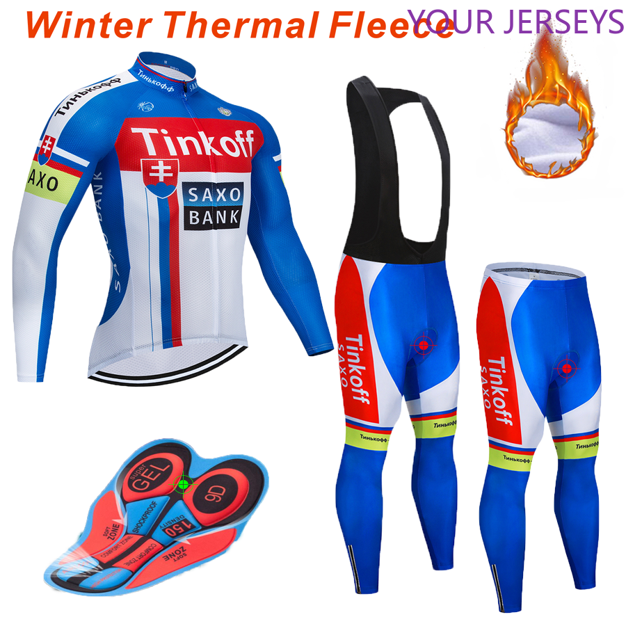 2020Pro Team Cycling Suit 9D Bib Suit Mountain Bike Uniform Bicycle Clothes Male Winter Warm Fleece Bicycle Clothes Cycling Wear