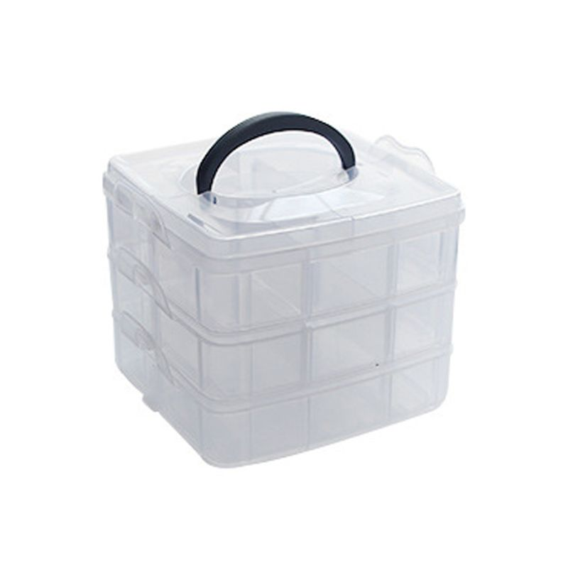 Transparent Portable Large Jewelry Organizer Storage Box Container Case Display Jewerly Storage Box