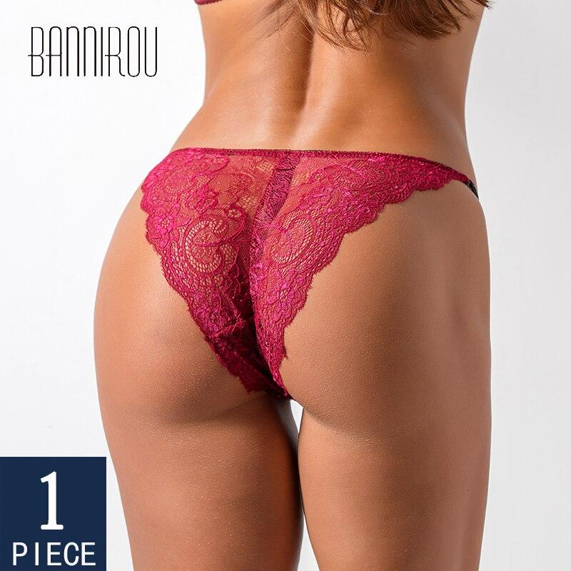 BANNIROU-ropa interior de encaje para mujer, lencería de cintura media, bragas suaves sexys para mujer, gran oferta 2021, 1 pieza